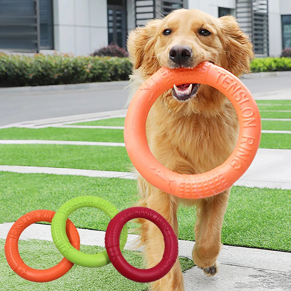 EVA Pet Flying Discs Dog Training Ring Puller Resistant Bite Floating Toy for Puppy Outdoor Interactive Game Playing