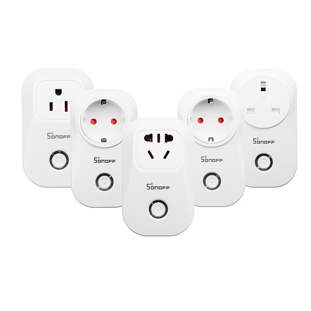 SONOFF® S20 10A 2200W Wifi Enchufe de Control Remoto Inalámbrico Enchufe de Temporizador Inteligente Smart Home Enchufe de Alimentación