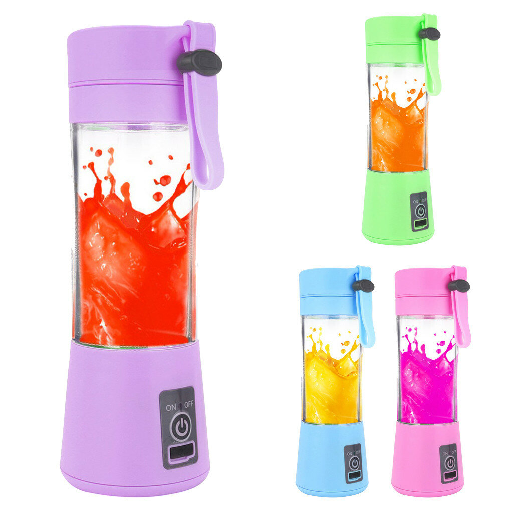 Portable Electric Juice Cup USB Electric Fruit Juicer Handheld Smoothie Maker Juice Cup USB Blender Charging Cable