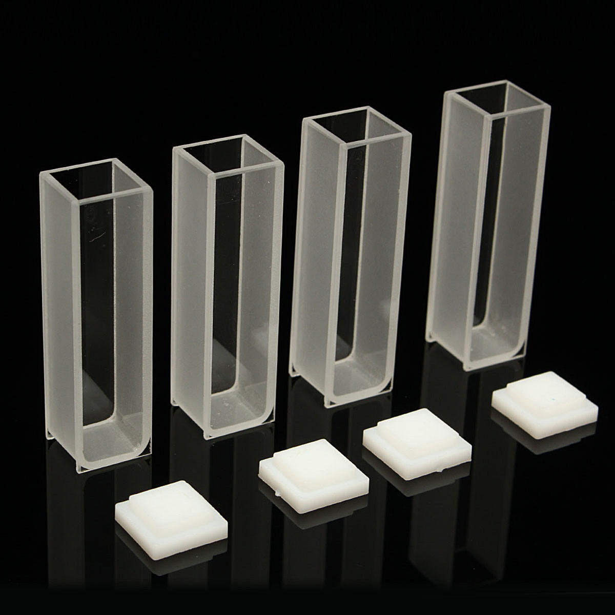 4Pcs 10mm Cuvette Cell Micro Optical Glass Spectrophotometer Cuvettes 3 5ml