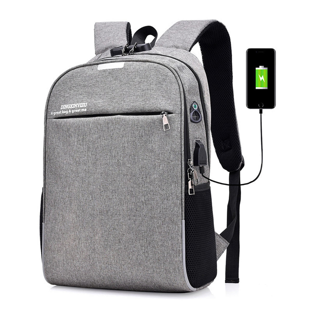 Image result for backpack with charging port