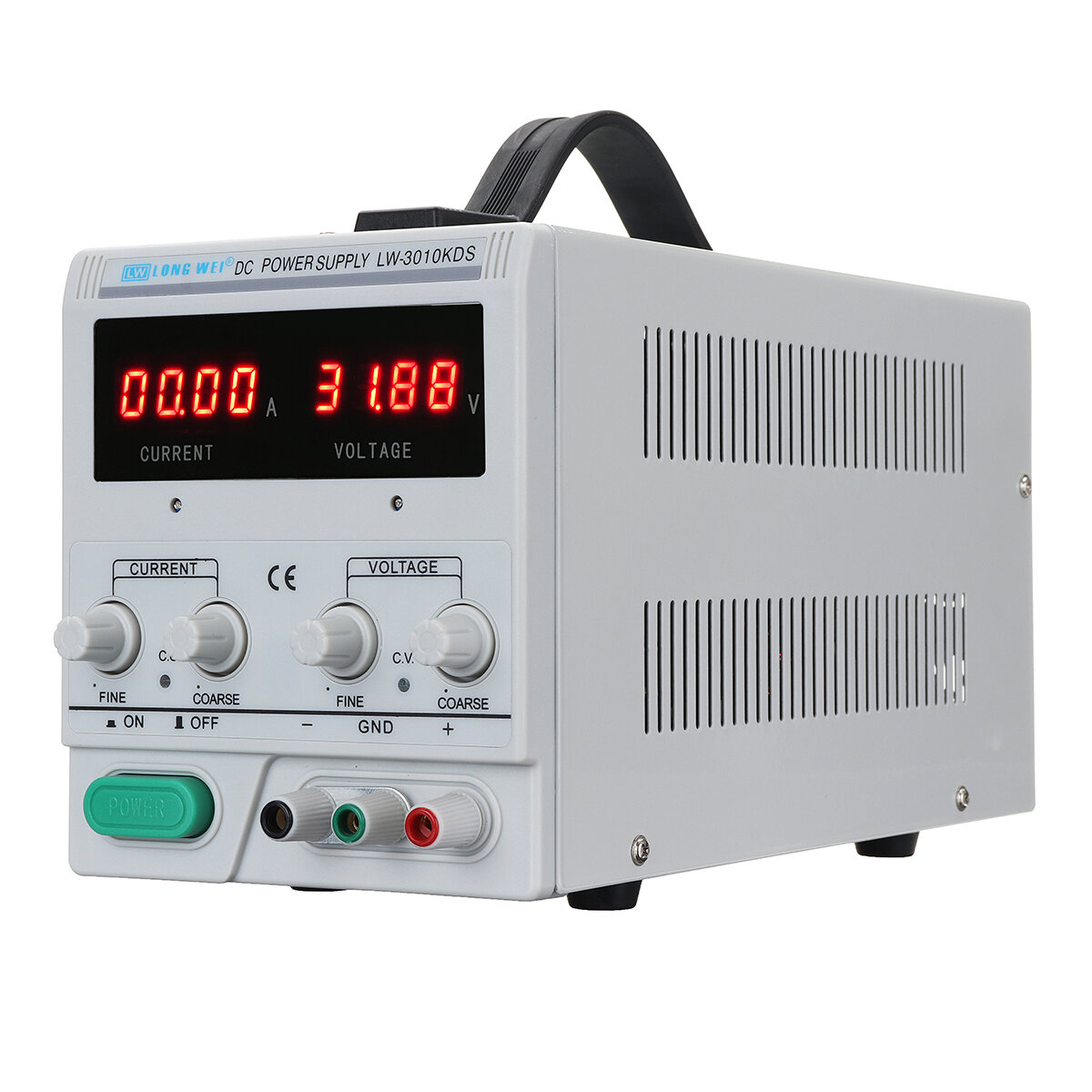 LONG WEI® 3010KDS Adjustable DC Power Supply 220V/110V 0-30V 0-10A Dual Display Switching Regulated Power Supply