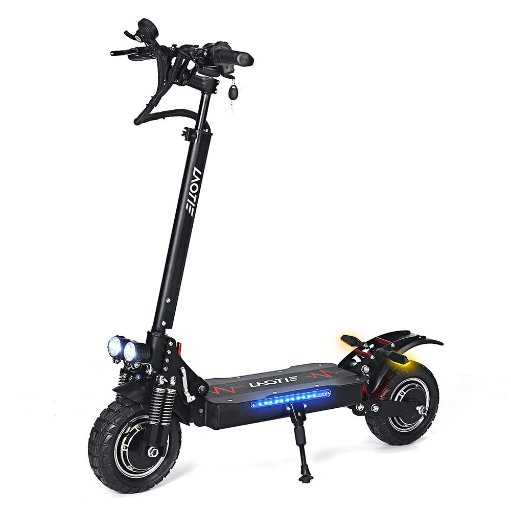 LAOTIE® L8S Pro 52V 28.8Ah 21700 Battery 2x1200W Dual Motor 60km/h Max Speed Off-Road Electric Scooter 10 Inch 100km Mil