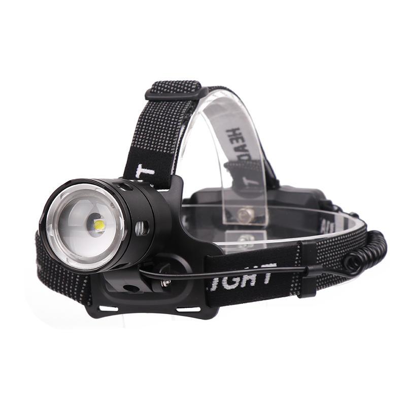 Xmund HL-35 850LM XPL-V6 LEDヘッドランプ3モードズームライト充電式キャンプ狩猟緊急ランタン18650