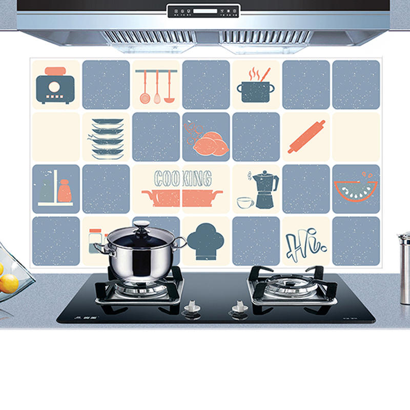 KCASA KC-WS020 45 x 75cm PVC Removable Kitchen Cookware Oil-proof Waterproof Wall Sticker Paper