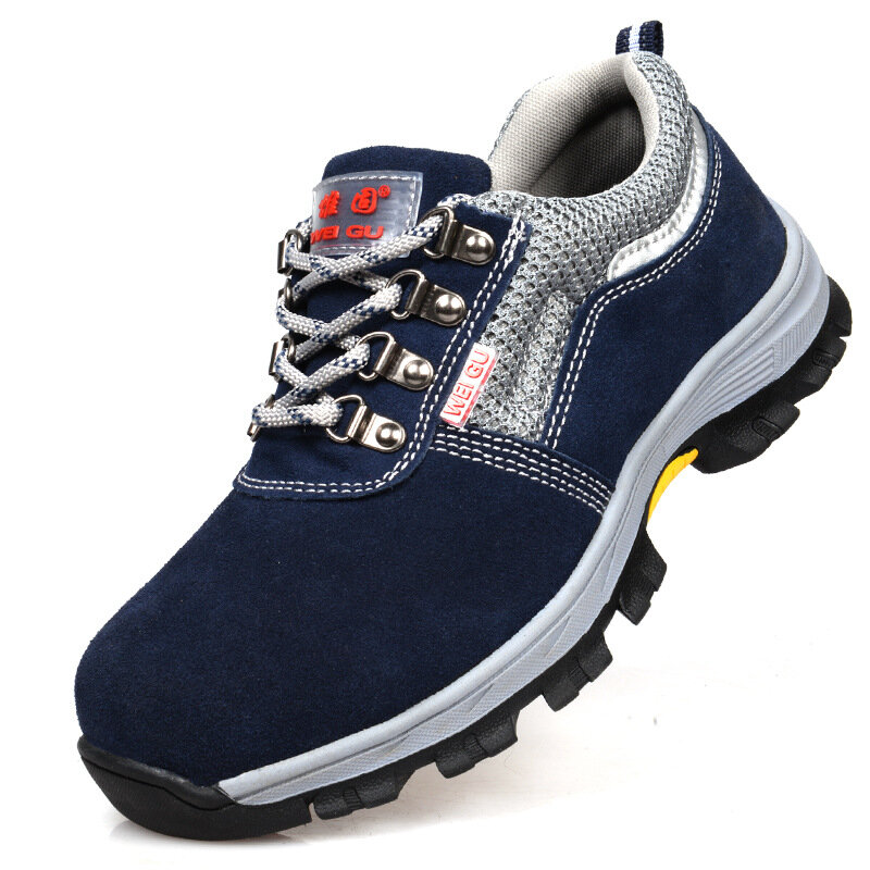 8f6ce2d9375 TENGOO Outdoor Mens Safety Shoes Summer Breathable Steel Toe Work Boots  Hiking Climbing Working Shoes