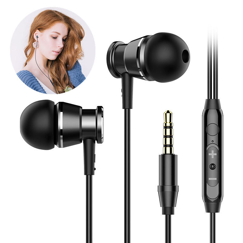 Langsdom M305 Mini 3.5mm Wired In-ear Earphone Stereo Heavy Bass Headphone With Mic for Iphone Samsung HTC