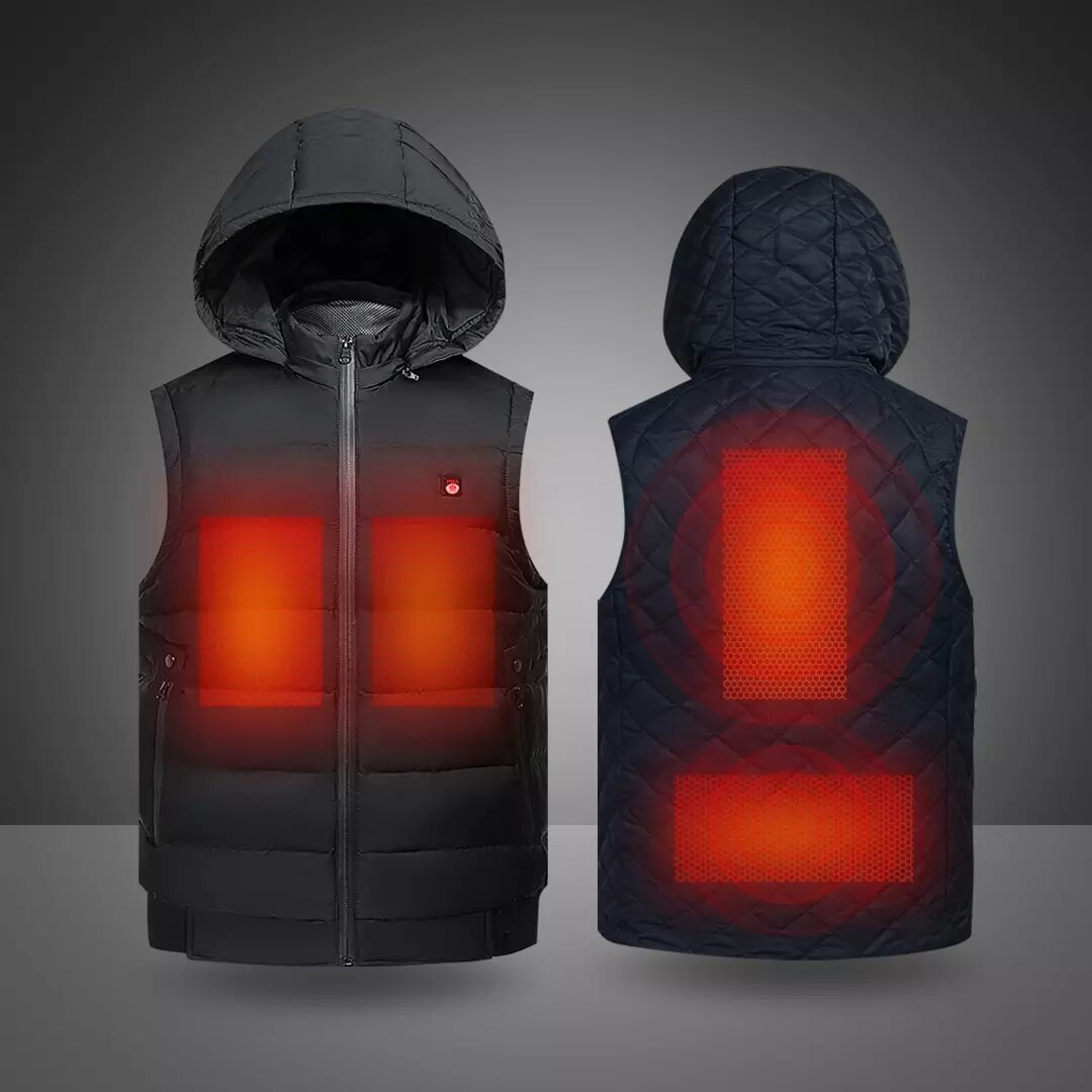 PMA Heated Jackets 3-speed Temperature Control USB Charging Graphene Heated Clothing Windproof Cold-proof Warm Heated Wi