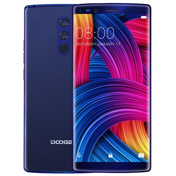 DOOGEE MIX 2 5.99 İnç Yüz Kilidini Aç 4060mAh 6GB Veri deposu 64GB ROM Helio P25 2.5GHz Sekiz Çekirdekli 4G Akıllı Telefon