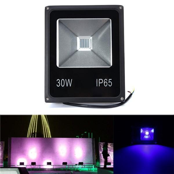 30W UV LED Projector Flood light 365/375/385/395/405/415NM Outdoor Waterproof Lamp AC85-265V