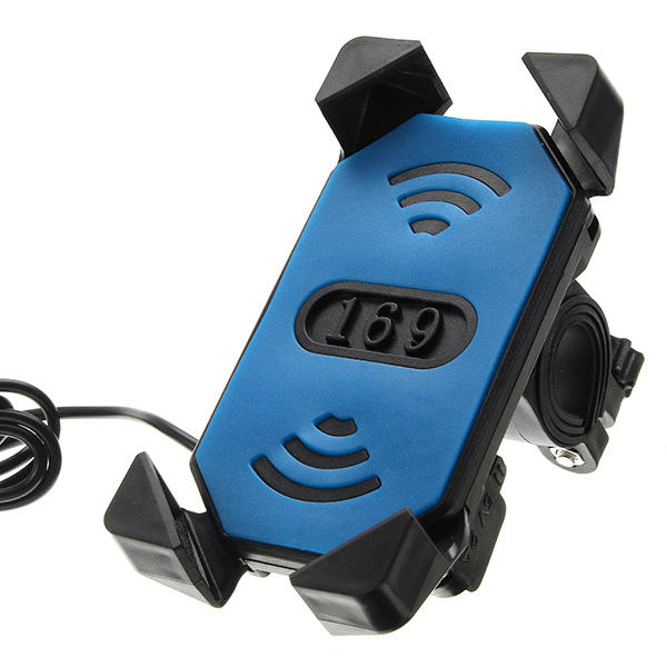 12V 3.5-6.0inch Phone GPS USB Rechargeable Holder For Electric Car Motorcycle Bike Scooter