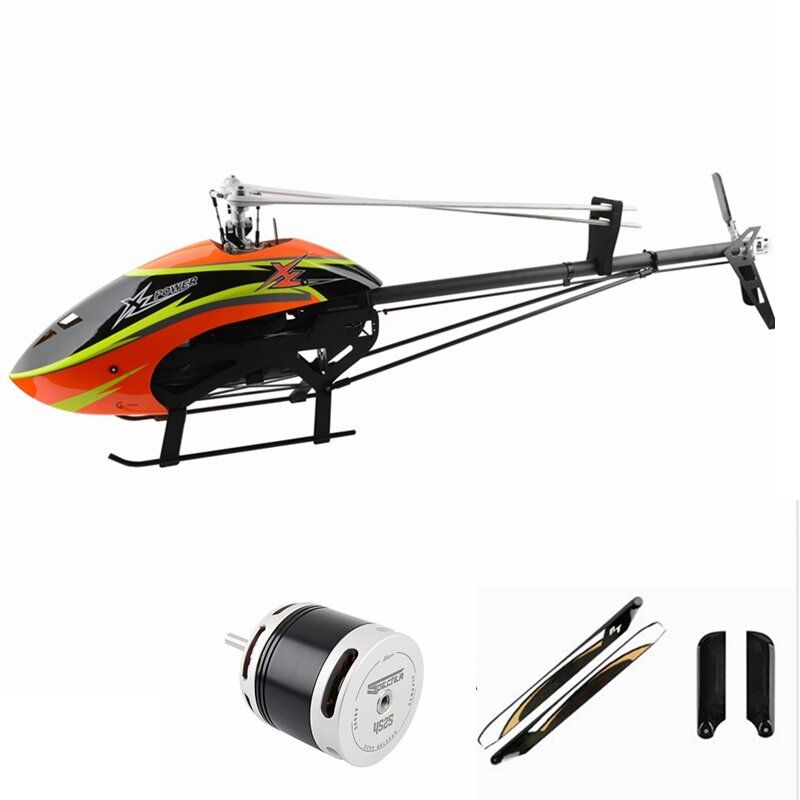 XLPower Specter 700 XL700 FBL 6CH 3D Flying RC Helicopter Kit With Brushless Motor/Main Blade/ Tail Blade