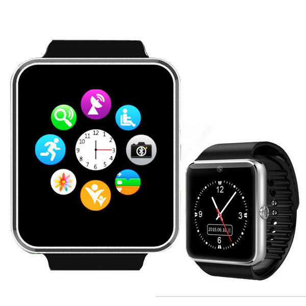 GT08 MTK6261 bluetooth Smart Watch Sync Notifier With SIM Card for Android