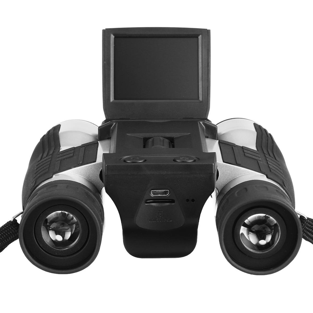 1080P HD Dijital Kamera 12X Zoom Teleskop Dürbün Video Oynatma 2 inç LCD Dürbün