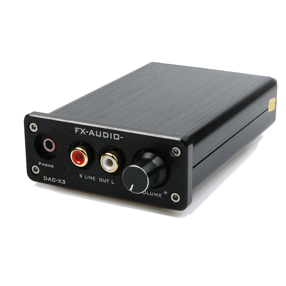 FX-AUDIO MINI DAC-X3 Fiber Coaxial USB Decoder 24BIT/192Khz USB DAC  Headphone Decoder Audio Amplifiers