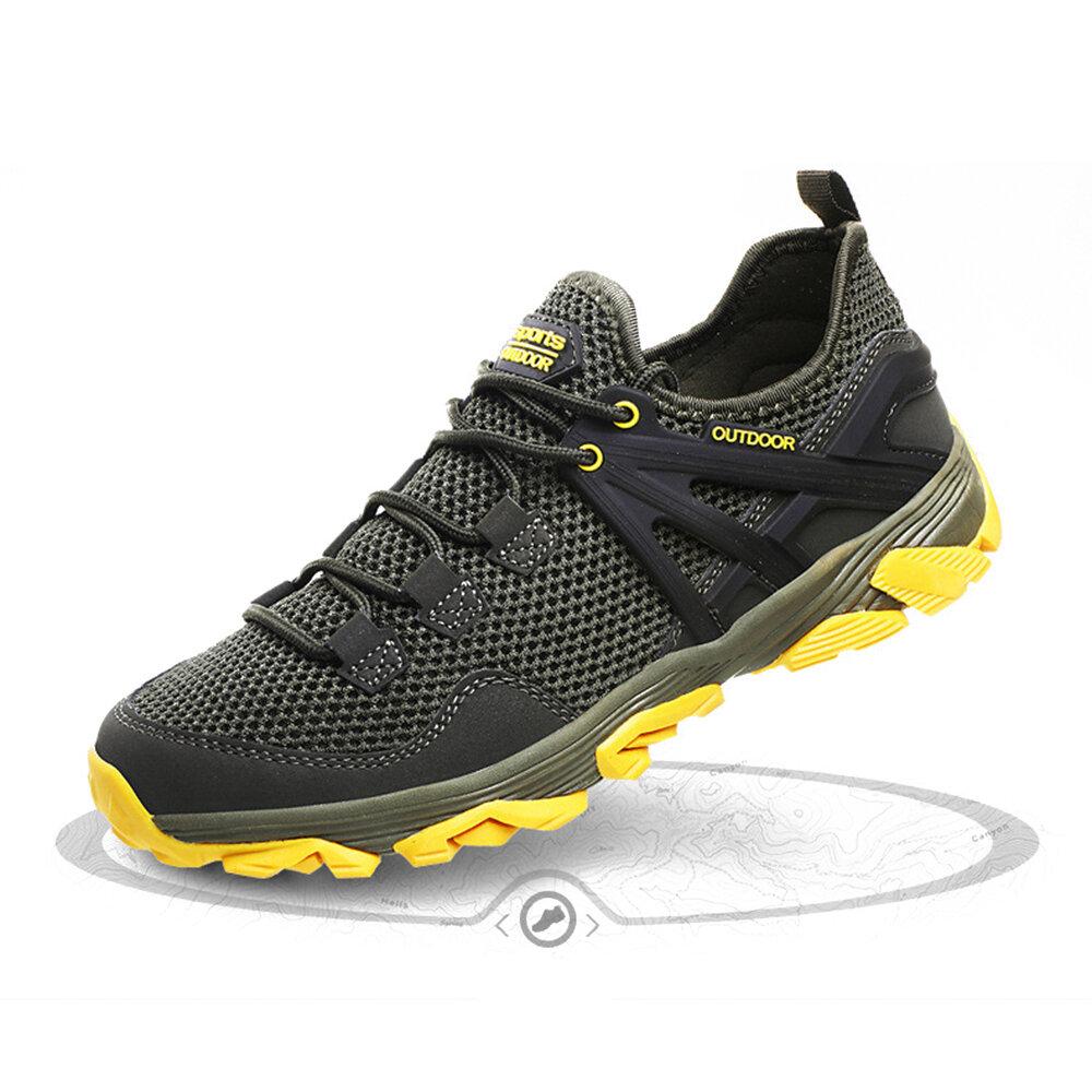 पुरुषों सांस मेष आउटडोर पर्ची प्रतिरोधी लंबी पैदल यात्रा के जूते