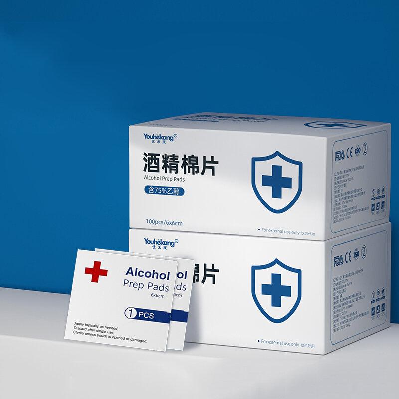 Youhekang 100pcs 60*60mm Alcohol Prep Pads