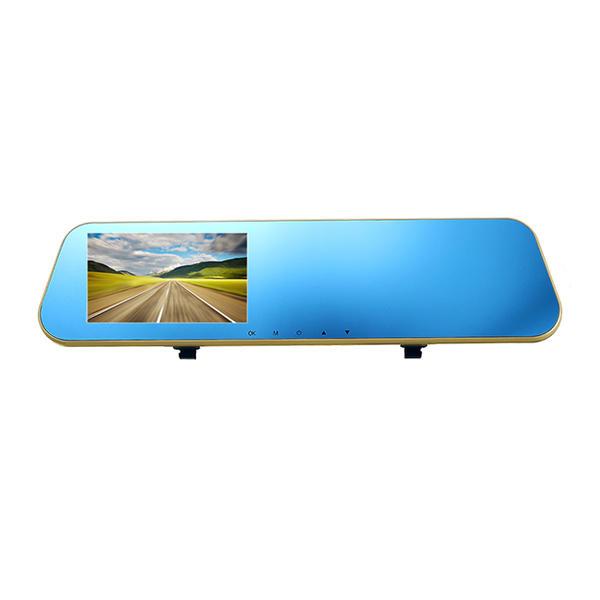 F1C Car DVR Dash Cam Rear View Mirror Camera Backup Video Recorder G-sensor  1080P Dual Lens