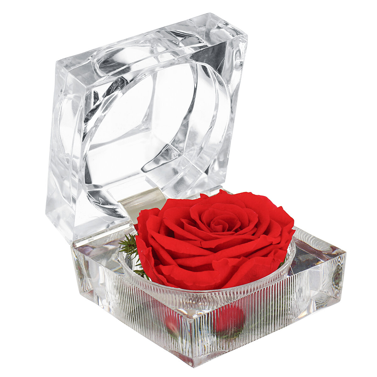 Eternal Flower Decoration Ring Box Colorful Rose Wedding Gifts Jewelry Box