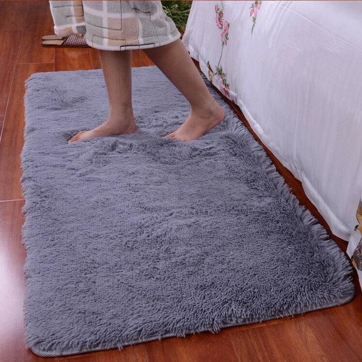 90x160cm Bedroom Short Floss Floor Carpet Mat Soft Shaggy Blanket Non Slip Living Room Rug