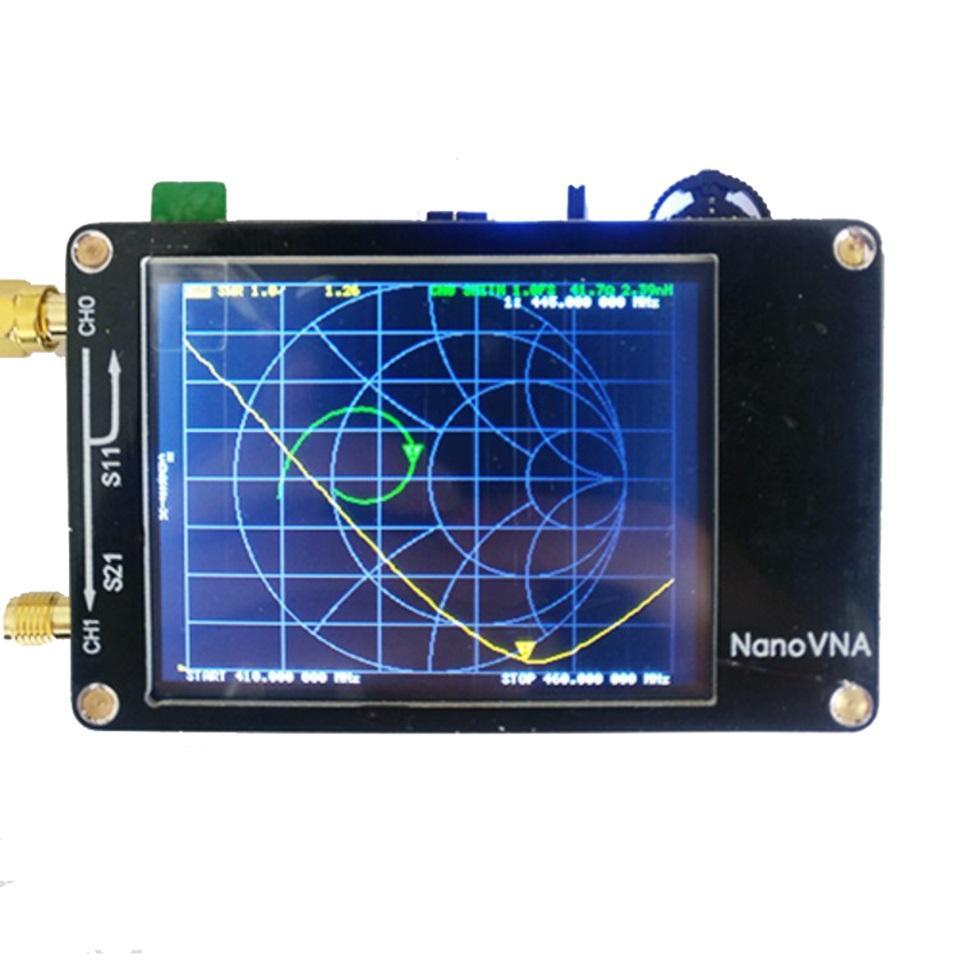 NanoVNA Vector Network Analyzer 50KHz - 900MHz Digital Display Touch Screen  Shortwave MF HF VHF UHF Antenna Analyzer Standing Wave