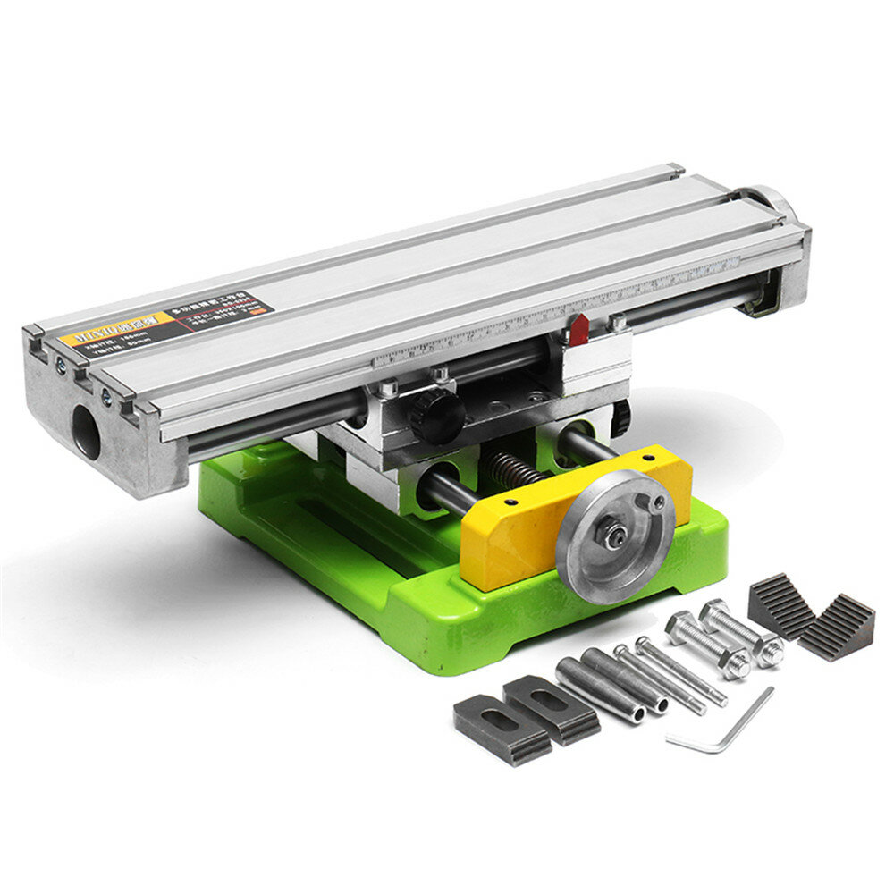 HILDA MINIQ BG6350 Multifunction Drill Vise Fixture Working Table Mini Precision Milling Machine Worktable