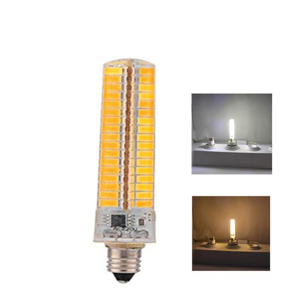 E11 7W Dimmable SMD5730 Warmweiß Reinweiß 136 LEDs Mais Glühbirne AC110 / 220 V