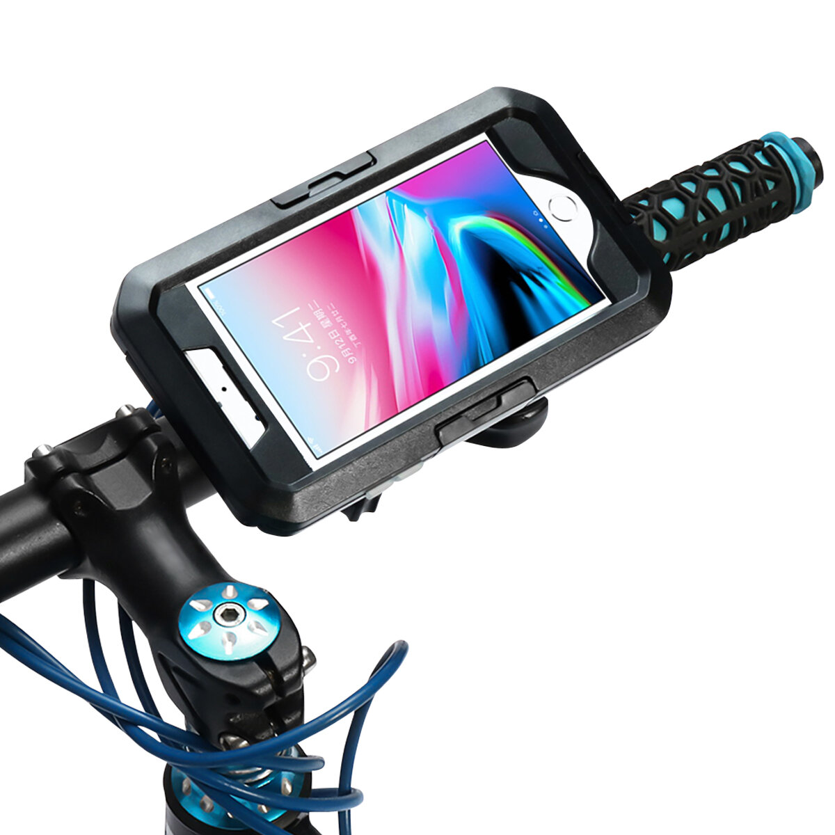 the best attitude 05831 d959e IPX8 Waterproof Bike/Bicycle Handlebar Holder Protective Case For iPhone 7  Plus/iPhone 8 Plus