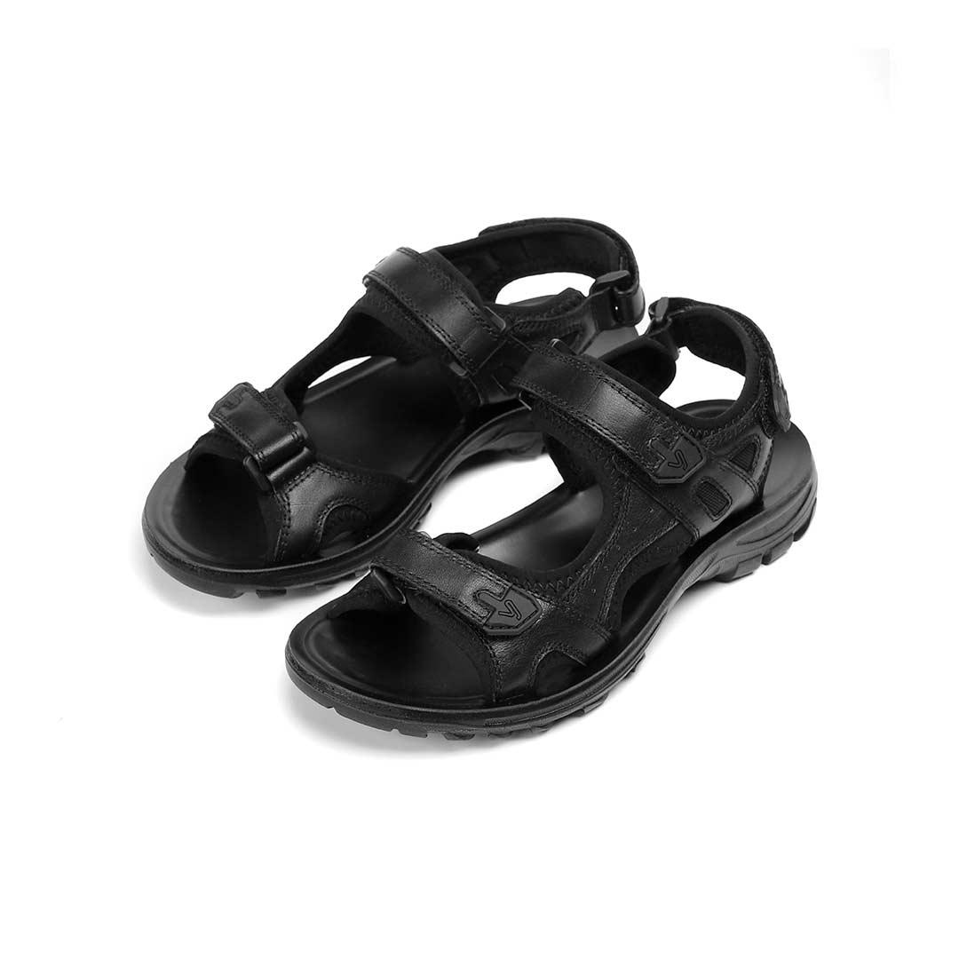 YUNCOO Men Leather Casual Sandals Breathable Non-slip Wear Resistant Outdoor Summer Beach Sandals Shoes from xiaomi youpin