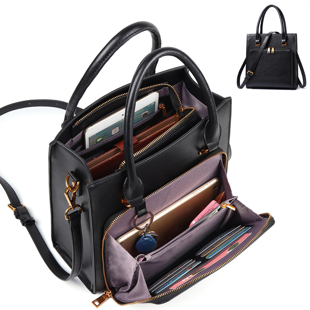 Brenice Women Solid Multifuction Handbag Work Crossbody ...
