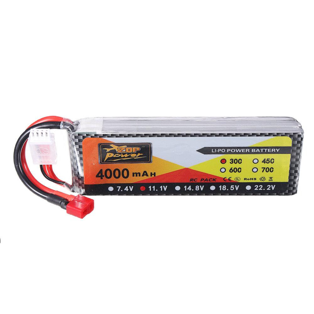 Картинка - ZOP Power 11.1V 4000mAh 3S 30C Lipo Батарея T Plug для JLB Racing J3 Speed Авто