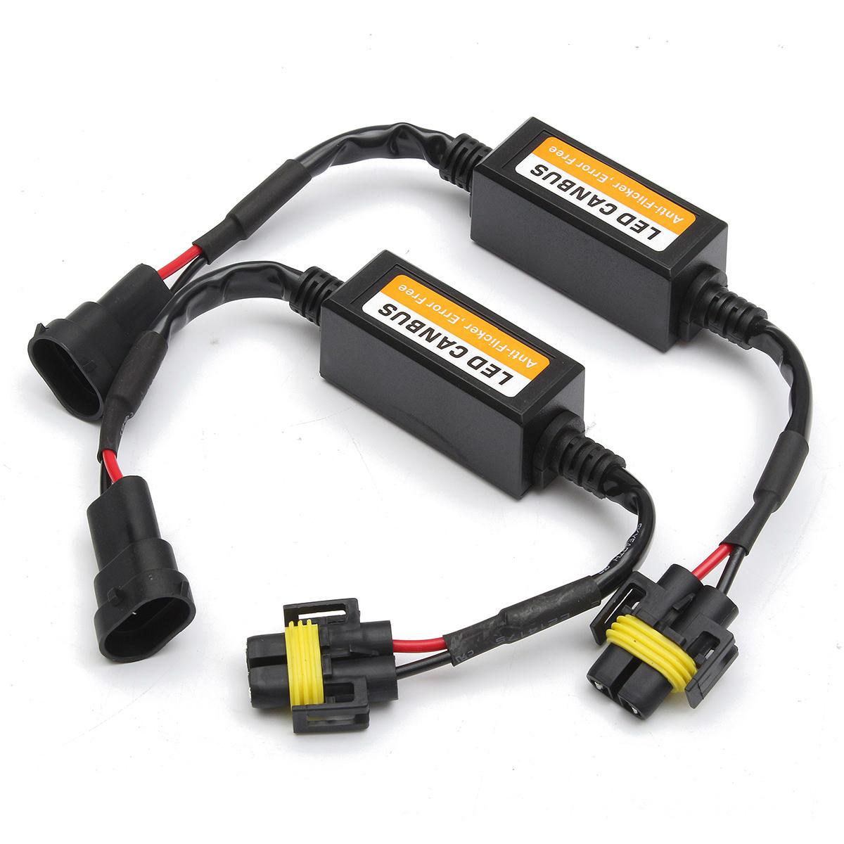 2x H7 Led Headlight Canbus Error Free Anti Flicker Resistor Canceller Decode ZW
