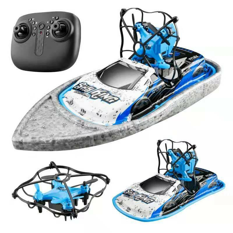 Utoghter 2.4GHZ Flight Boat Car 3-mode Ocean/Sky /Land Mode Air Pressure Altitude Hold Headless Mode RC Drone Quadcopter