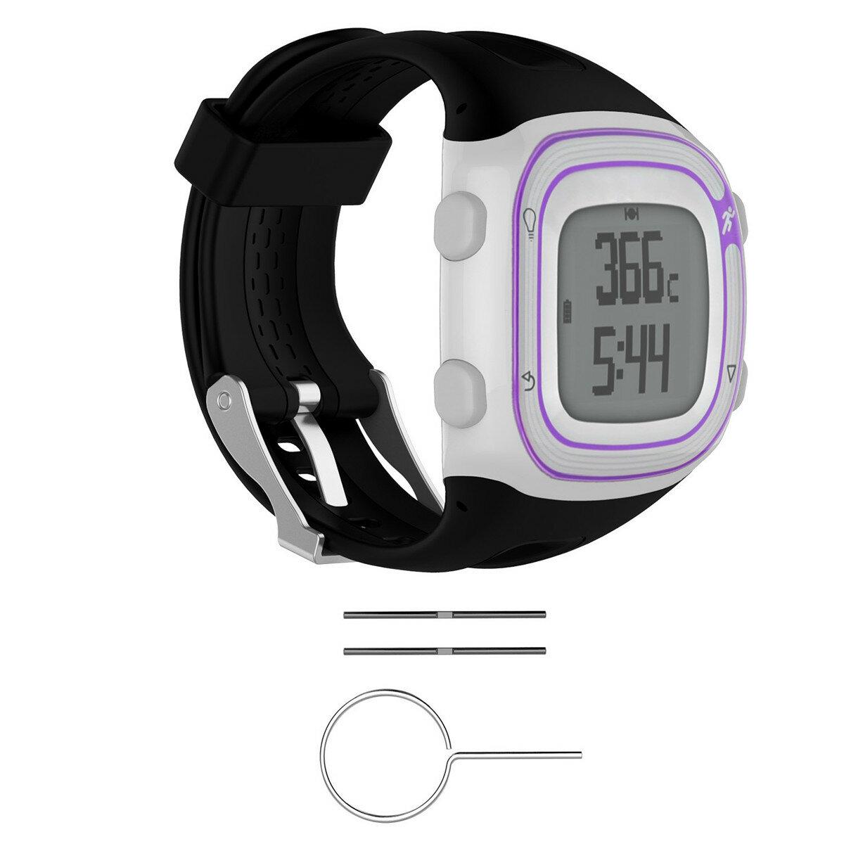Silicone Wrist Banda Cinturino + strumenti per orologio da corsa Garmin Forerunner 10/15 GPS
