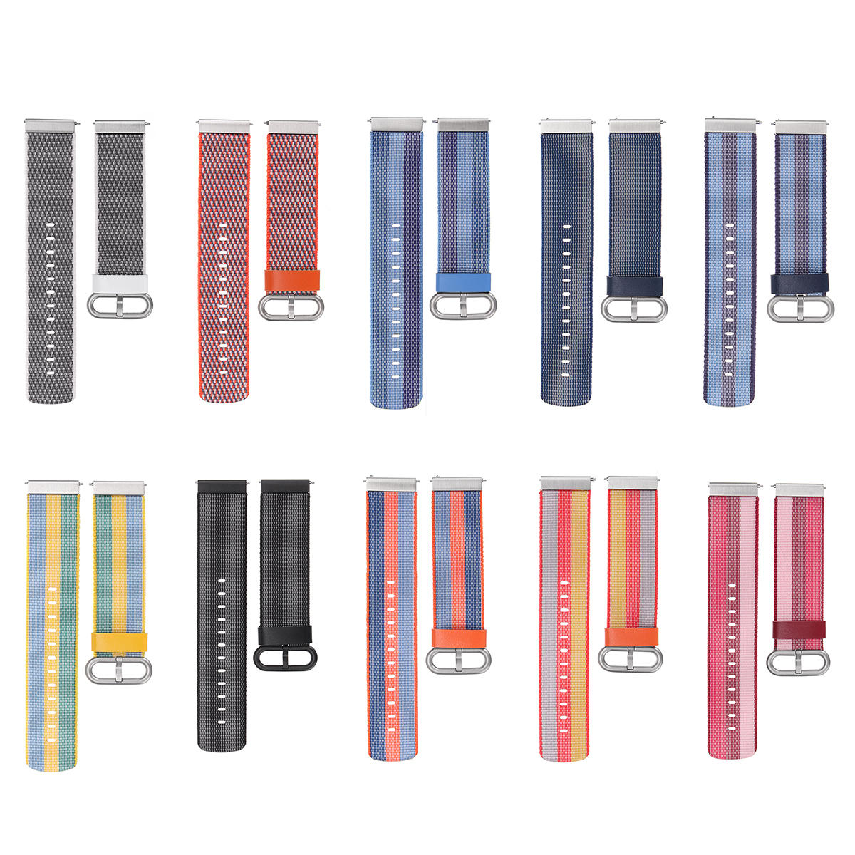 Replacement Watch Band Strap Wristband Nylon Loop for Fitbit Versa Sport Watch