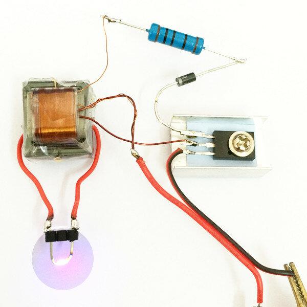 Inverter Boost High Pressure Generator Arc Ignition Lighter Coil Module  Electronic DIY Production Kit
