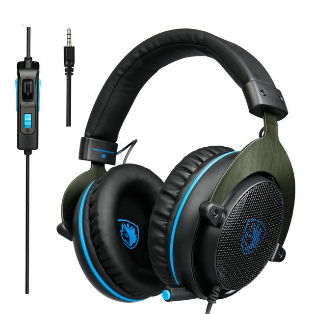 f1e5003d493 Sades R3 Gaming Bass Surround Stereo Over Ear Game Headset with Microphone  Volume Control COD