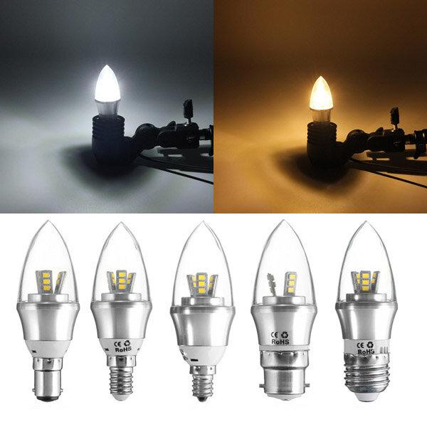 E27 / E14 / E12 / B22 / B15 Dimmbar LED Glühlampe 3W SMD 2835 Kronleuchter Kerzenlichtlampe AC 220V