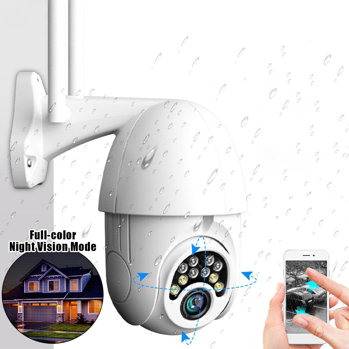 10LED 5X Zoom HD 2MP IP Güvenlik Kamera WiFi Kablosuz 1080P Outdoor PTZ Su Geçirmez Gece Görüş ONVIF