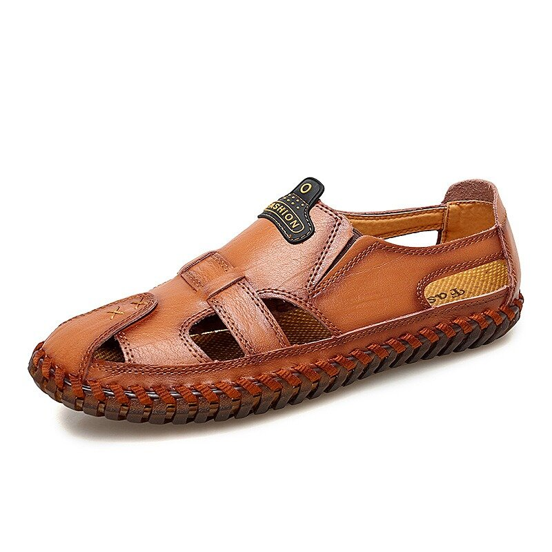 Genuine Leather Breathable Hollow Soft Soles Sandals фото