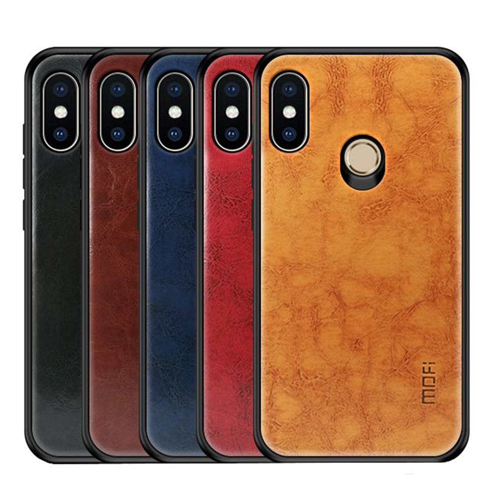 promo code 2684a a1b9f Mofi Shockproof PU Leather Pattern Soft TPU Back Cover Protective Case for  Xiaomi Redmi Note 6 Pro