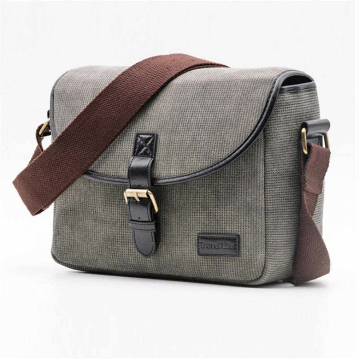 Canvas Travel Shoulder Bag Case For DSLR Digital Camera
