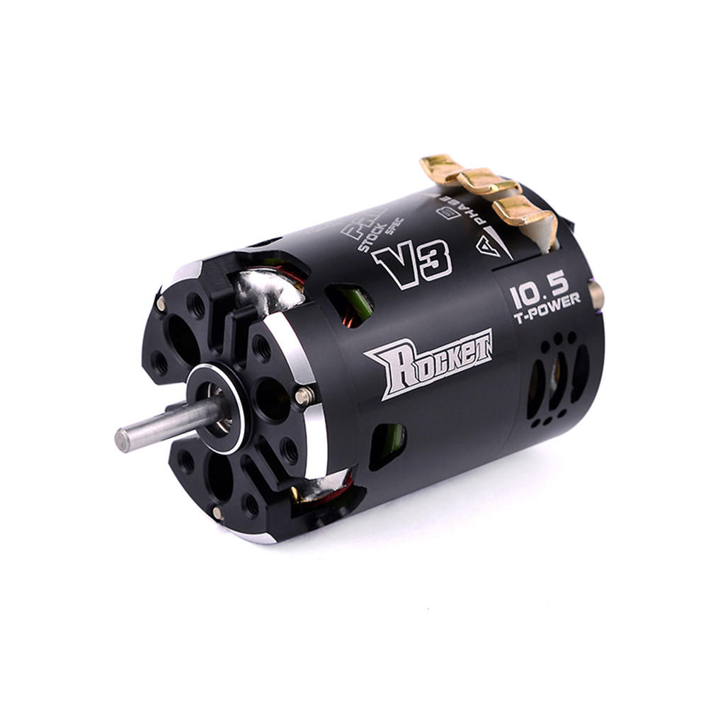 Rocket 540 V3 10.5T Sensored Brushless 7.2 Spec Competition For 1/10 RC Car Motor With Two Way Inductive