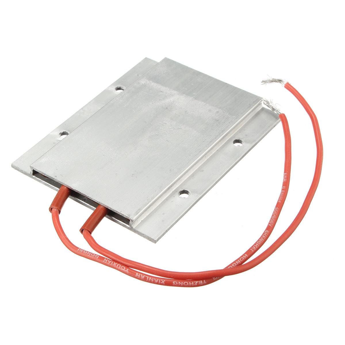 200W AC / DC 220V 77 x 62 x 6mm PTC Thermostat Aluminum Heating Ceramic Heater Incubator Dehumidification