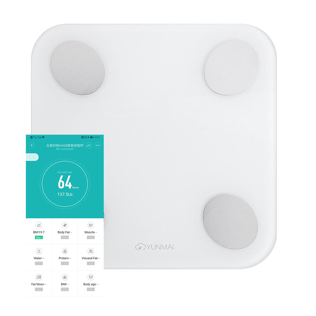 YUNMAI Mini 2 Smart Body Fat Scale bluetooth Digital Weight Scale with Free English APP Body Composition BMI Monitor Analyzer from Xiaomi Ecosystem