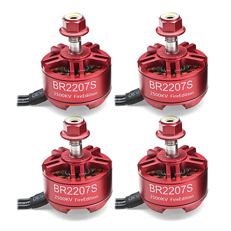 4X Racerstar 2207 BR2207S Fire Edition 2500KV 3-6S Brushless Motor For RC Drone FPV Racing Frame Kit