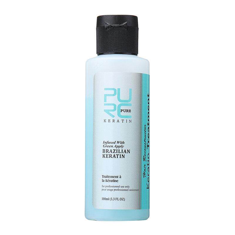 Apple Flavor 3,7% Brazil Keratin Điều trị sửa chữa hư tổn tóc xoăn Dầu xả