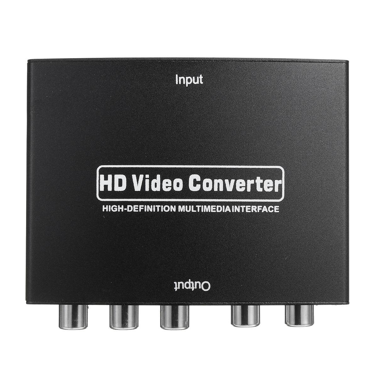 SD-020 1080P HD naar RGB Component 5RCA YPbPr Video R / L Audio Converter-adapter TV PC