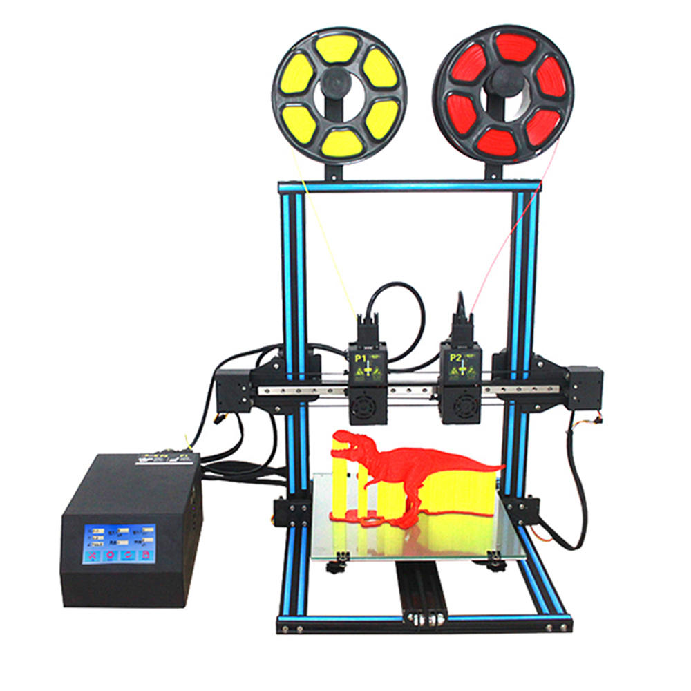 TENLOG® TL-D3 Dual Extruder 3D Printer Kit 300*300*400mm Printing Size Support Dual Nozzle Print with 7-axis Motor Motherboard