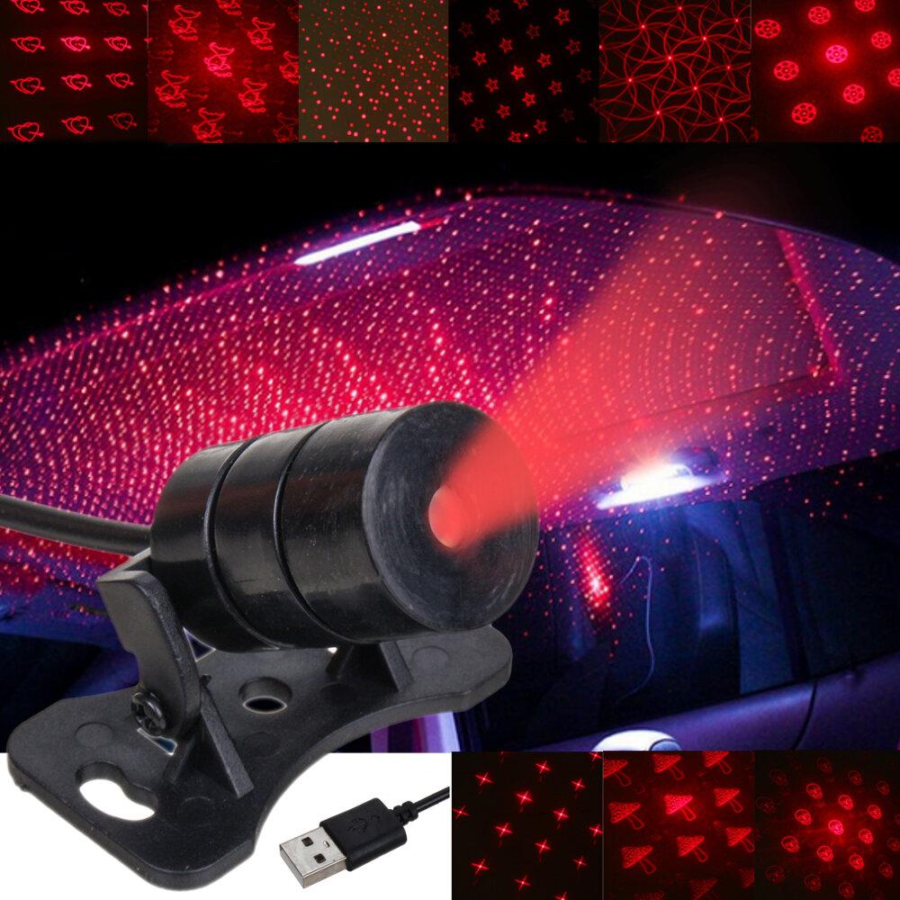Mini LED Car Roof Teto Estrela Night Light Projetor Lâmpada Interior Atmosfera Decoração Starry Projetor USB Plug